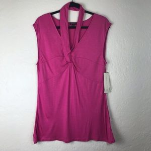 Nine West The Halter Neck Tee in Pink NWT